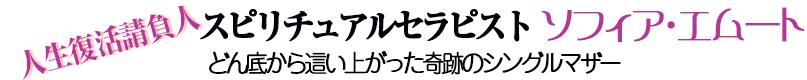 スピリチュアルセラピスト ソフィアエムートの部屋~セラピスト・カウンセラー~